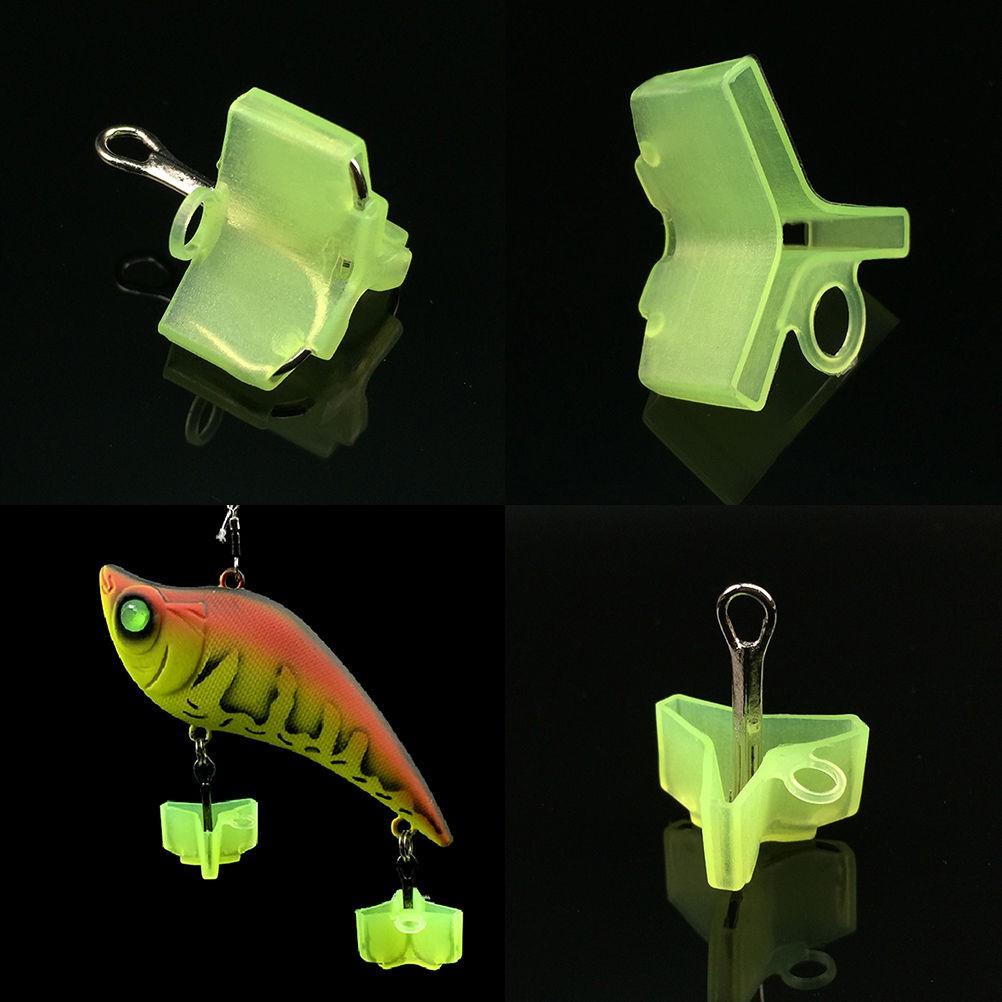 100Pcs Fishing Treble Hooks Safety Holder Cover Bonnets Caps Protector