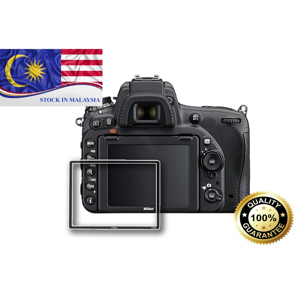 Fotga 0.5mm Premium LCD Screen Panel Protector Glass For Nikon 750D (Ready Stock In Malaysia)