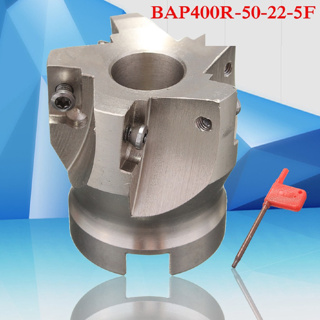 BAP 400R-50-22-5F 50mm 5 Flutes Indexable End Mill Cutter For APKT 1604 Insert