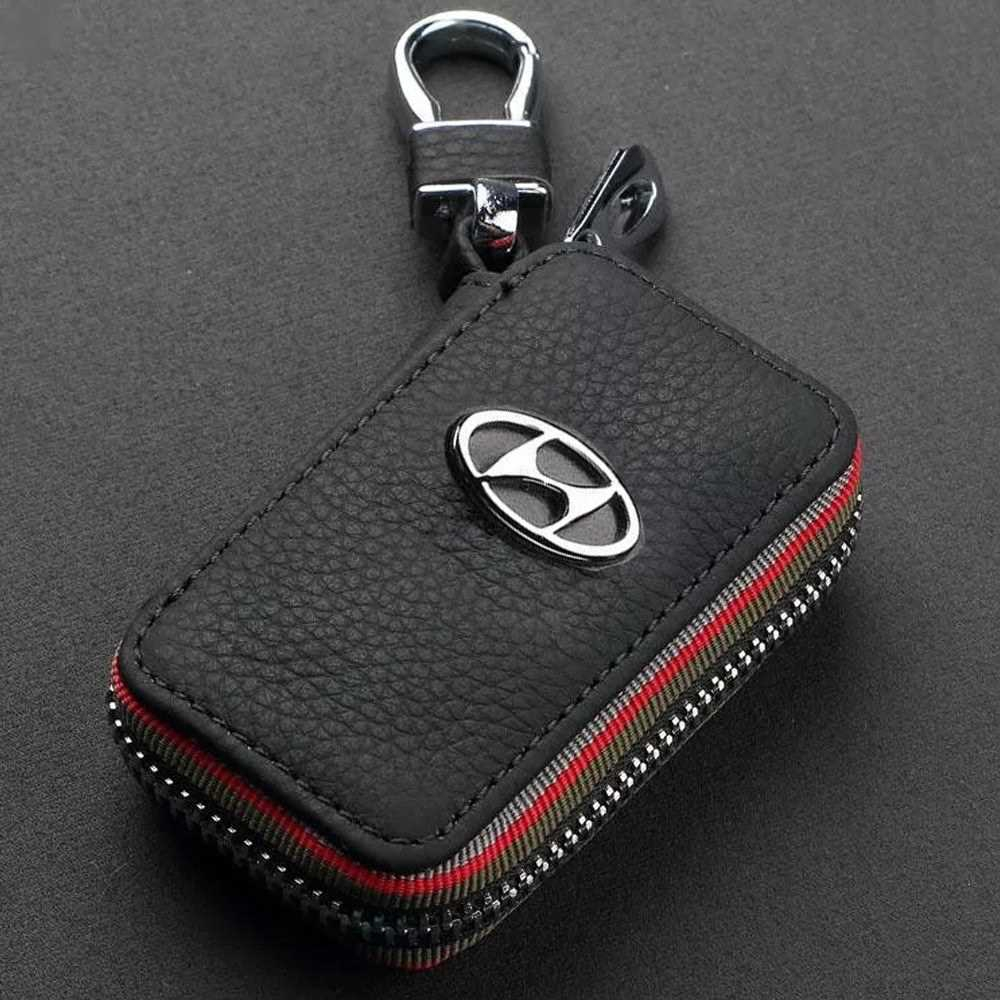 Real Leather Car Key Case Keys Holder Bag For Cadillac Hyundai Kia Lexus Subaru Suzuki Mitsubishi Buick (2)