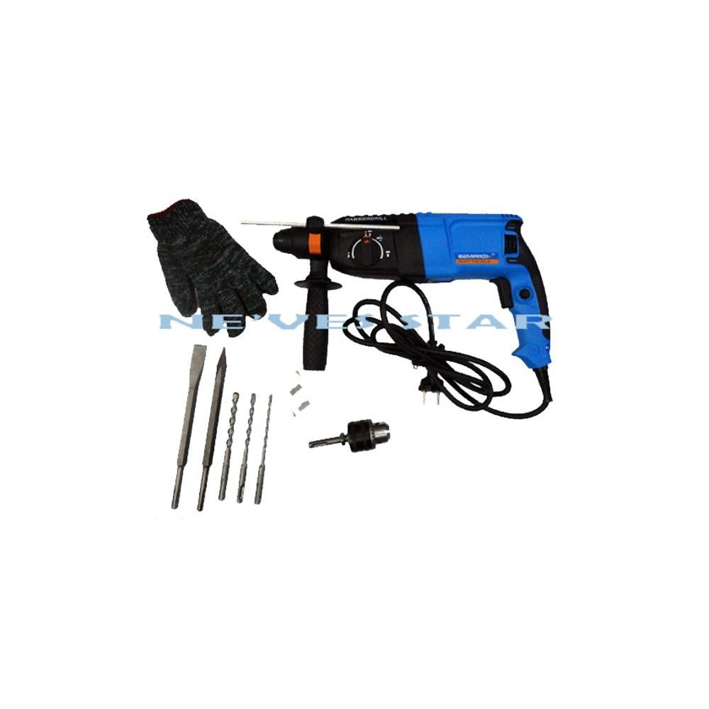 SEMPROX SRH2601 800W 26MM 3MODE SDS PLUS ROTARY HAMMER DRILL HACKER GERUDI