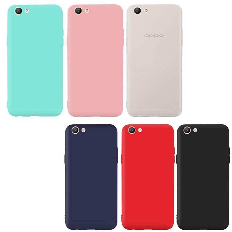 For Oppo A7 A5S A77 R9S Plus/F3 Plus Case Candy Color Cover Soft Silicone  TPU