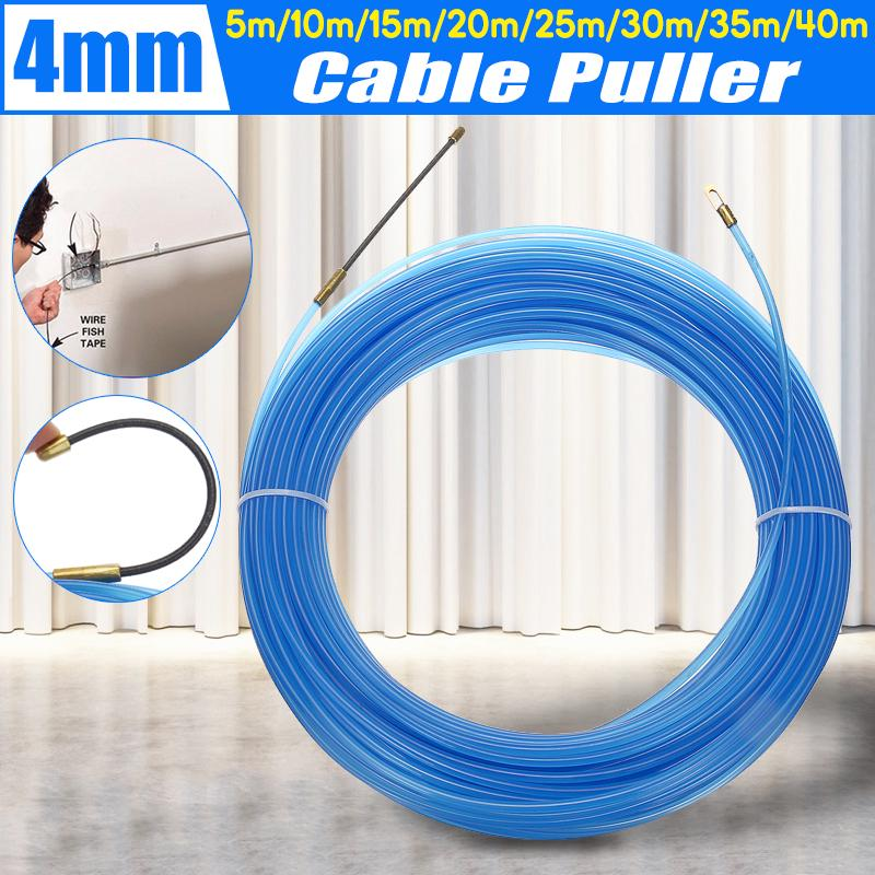 4mm Fibergl Wire Cable Push Puller Duct Rodder Snake Electrical Fish on