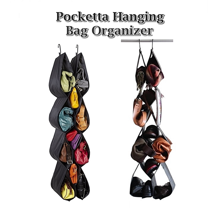 SHIP SELANGOR: 12 POKET /SET ORGANIZER BAG Pocketta Hanging Bag Organizer