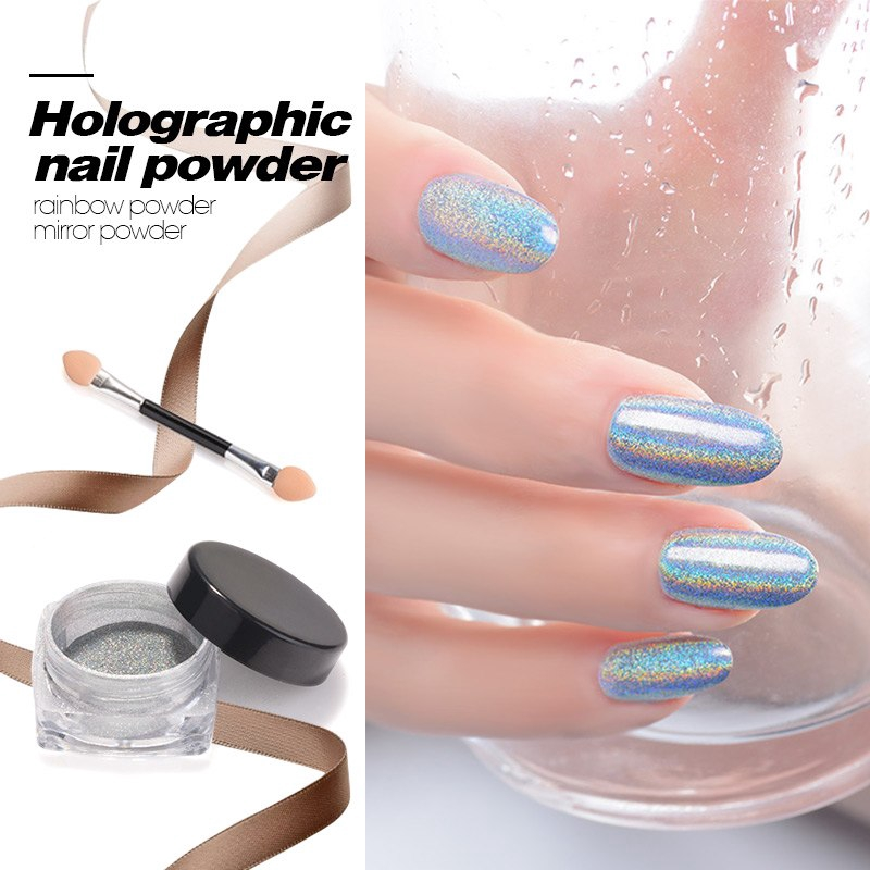 c6e8bd2b34c82 Neon Holographic Mirror Glitter Powder Nails Mirror Sequins Pigment  Decorations