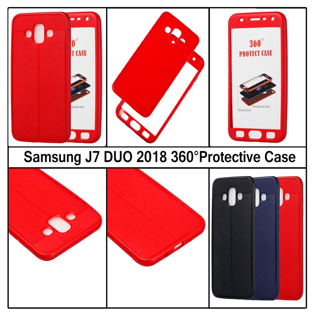 03ce5a74d58 Galaxy J7 DUO 2018 Case Shockproof 360° Full Protective Rubber Shell Cover