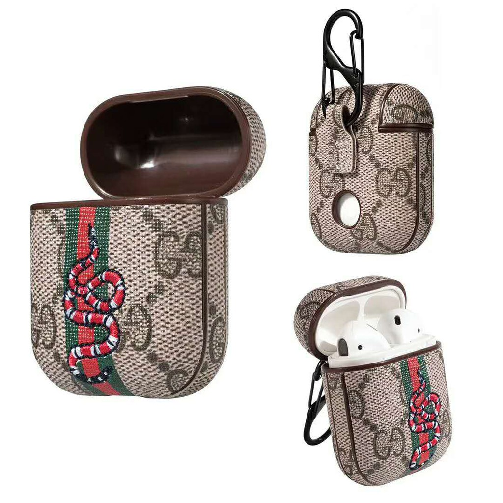 409e93498c8 Fashion Luxury LW GG Bnad PU Leather AirPods Case | Shopee Malaysia