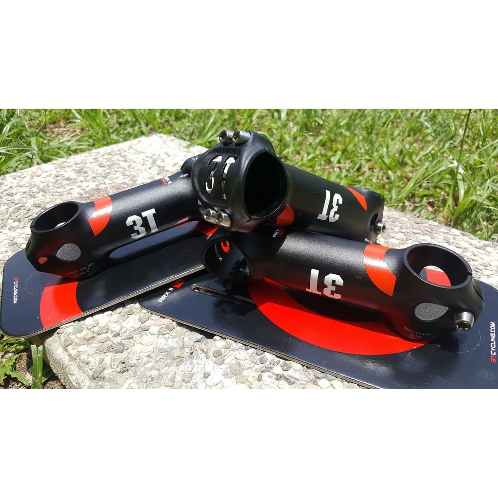"// 3T Arx-Team Road Stem 110mm 6° 31.8mm Clamp 1 1//8/"" Black// Red Alloy Arx NEW"