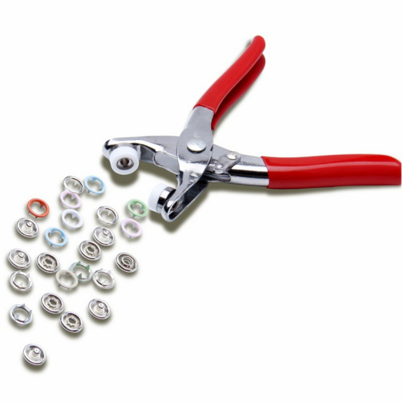 100PCs Snaps Resin Plastic Button Install Tools Bunkle Hand pressure pliers