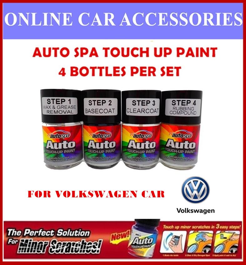 VOLKSWAGEN CAR Original Touch Up Paint - AUTOSPA Touch Up Combo Set (4 Bottles Per Set)