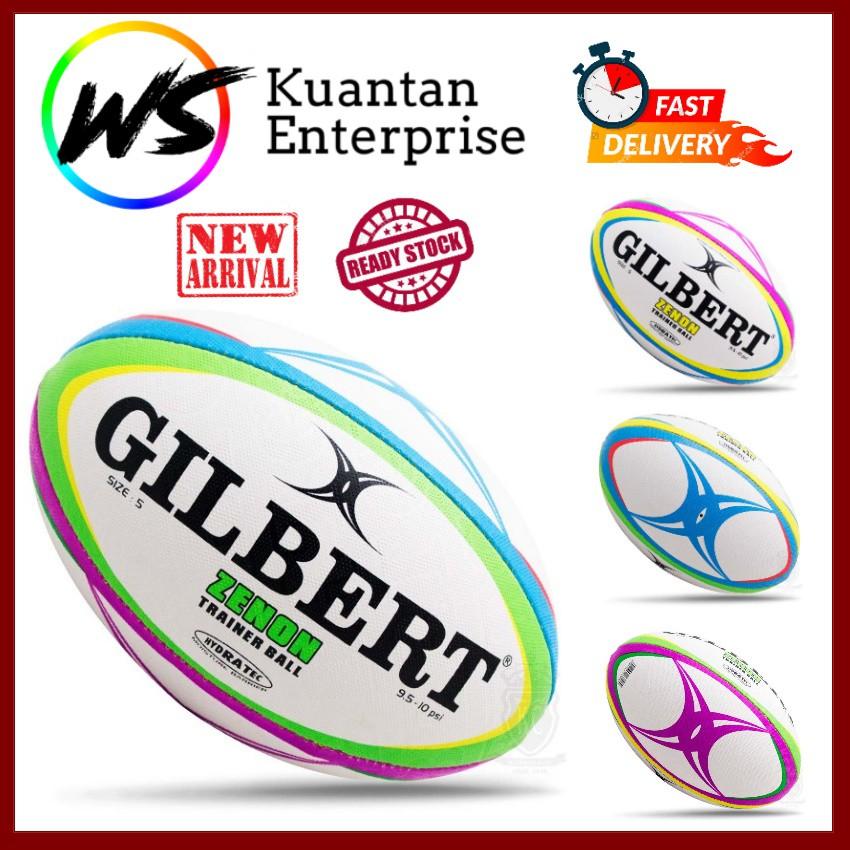 【100% Original】GILBERT Zenon Multicolour RUGBY BALL (Size 3 / Size 4 / Size 5)