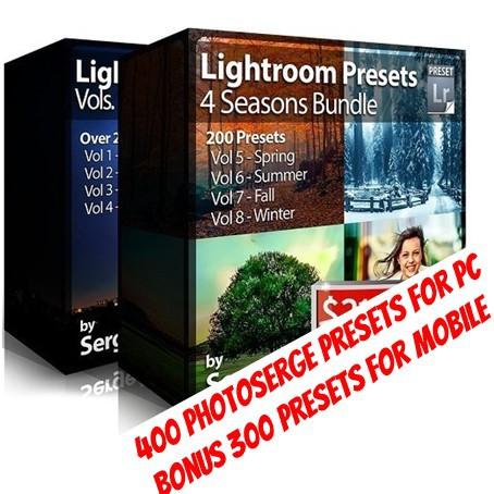 [LIGHTROOM PRESETS] 400 Ph0t0 Serge Adobe Lightroom Presets For PC + Bonus  300 Mobile Presets