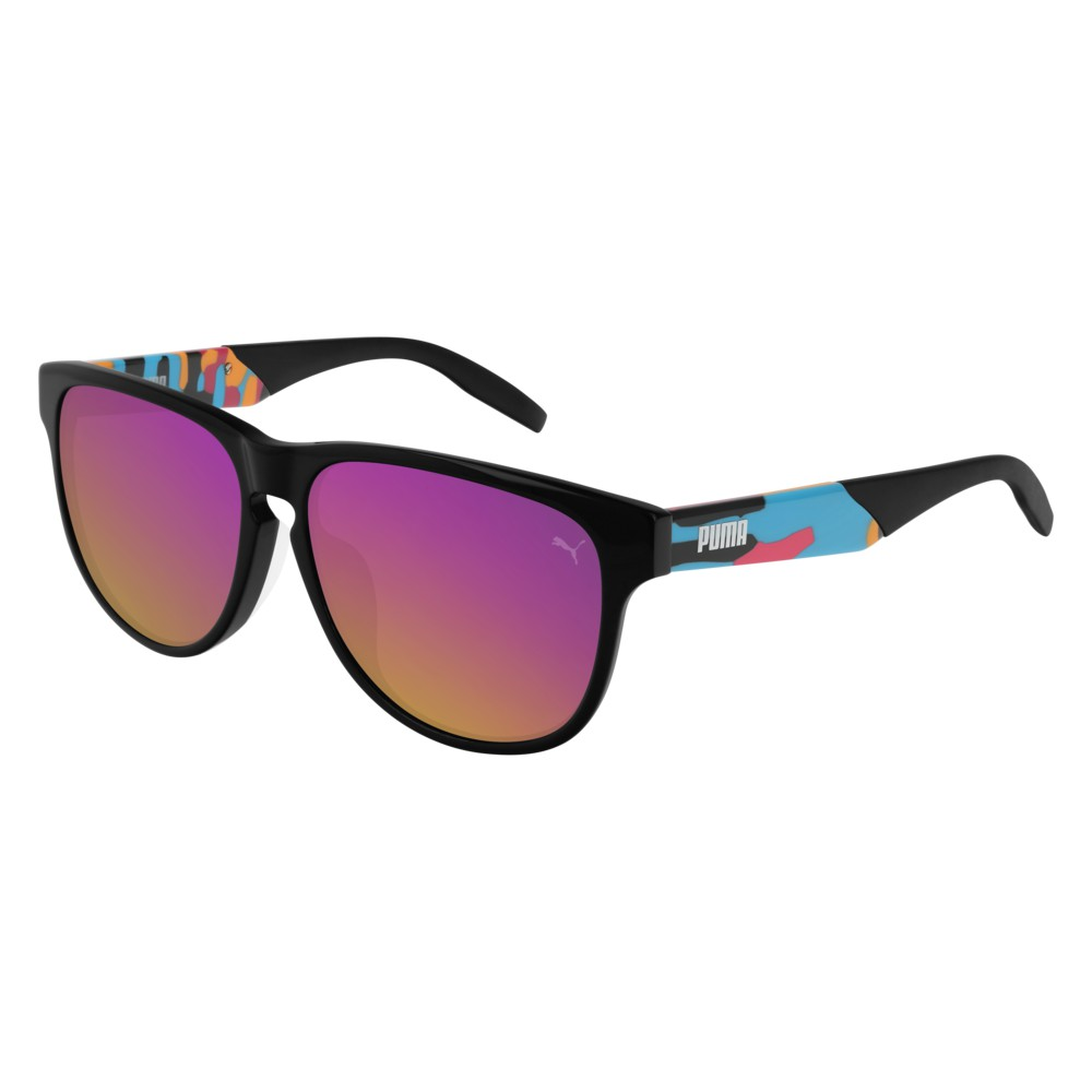 Puma Sunglasses Model PU0229SA-003 Black-Havana-Pink