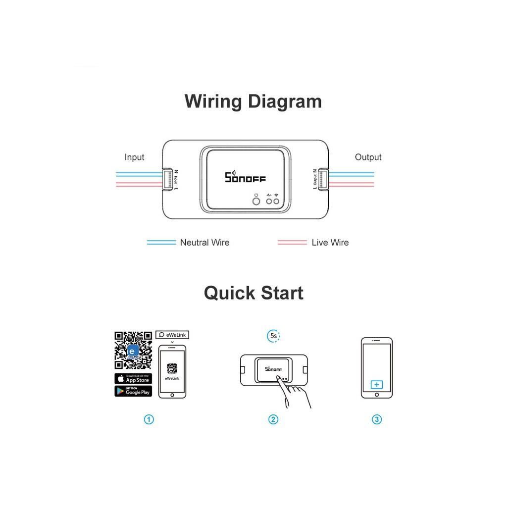 NEW! SONOFF BASICR3 10A WiFi wireless control smart switch