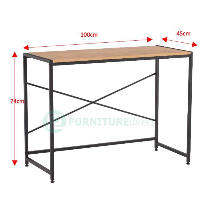 Furniture Direct RAGNAR metal frame study desk/ meja berlajar