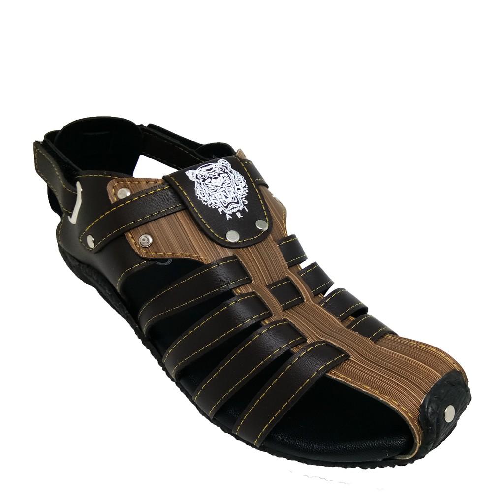 SHL Men PU Leather Sandal Beach Malaysia Selipar Kasut Lelaki size 6-10【男士凉鞋】- 1289