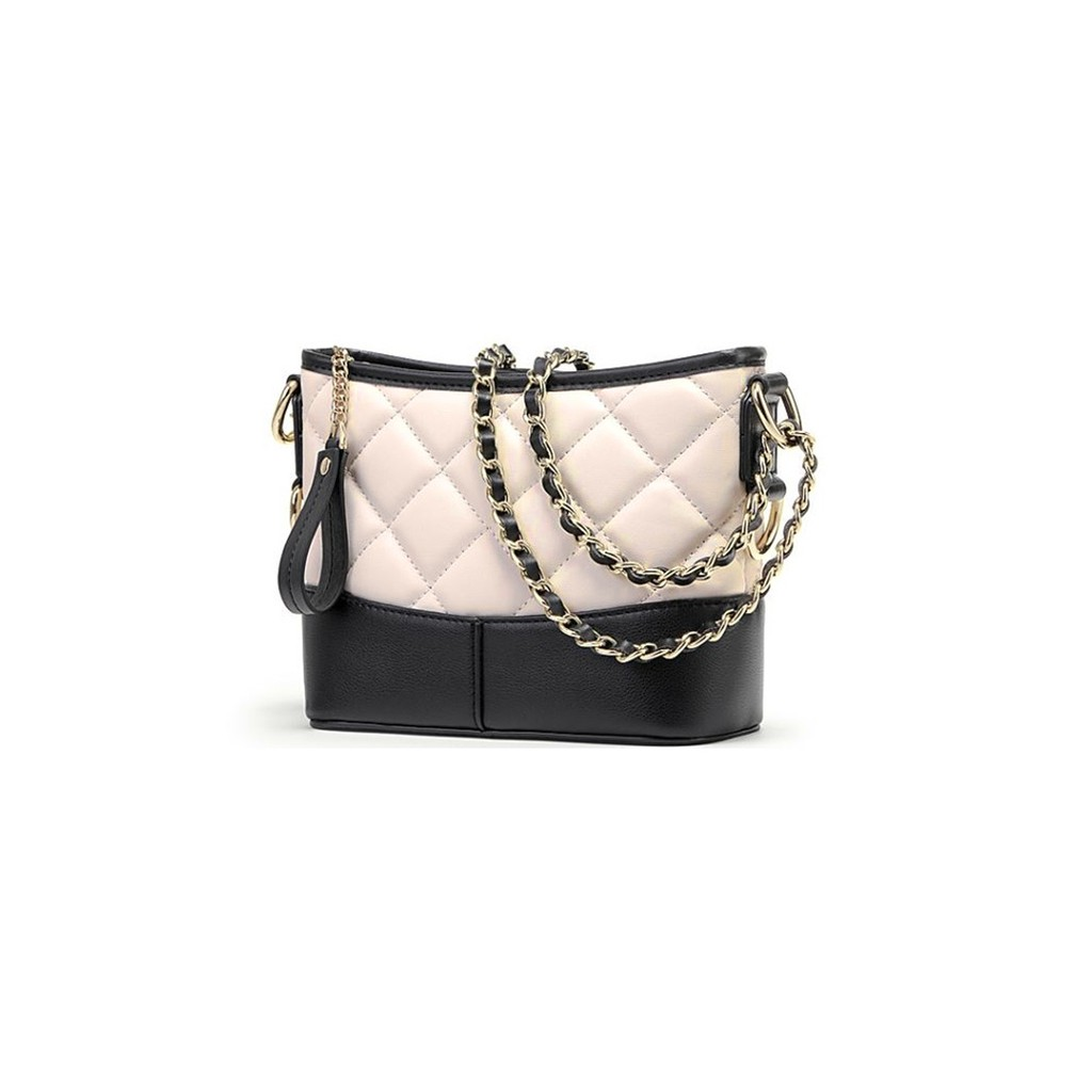 c7bf2fac2f67 Quilted Two Tone Chain Strap Shoulder Bag