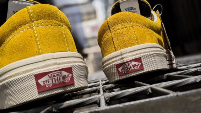 VANS SLIP DX YELLOW MUSTARD CASUAL SHOES MEN PREMIUM - 40-44 EURO