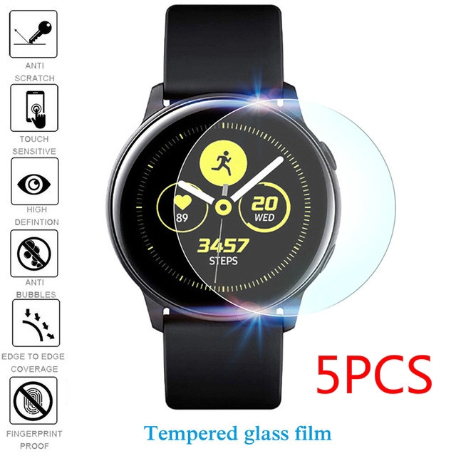 23e3f4eed 5PCS For Samsung Galaxy Active Watch Protective Tempered Glass Film    Shopee Malaysia