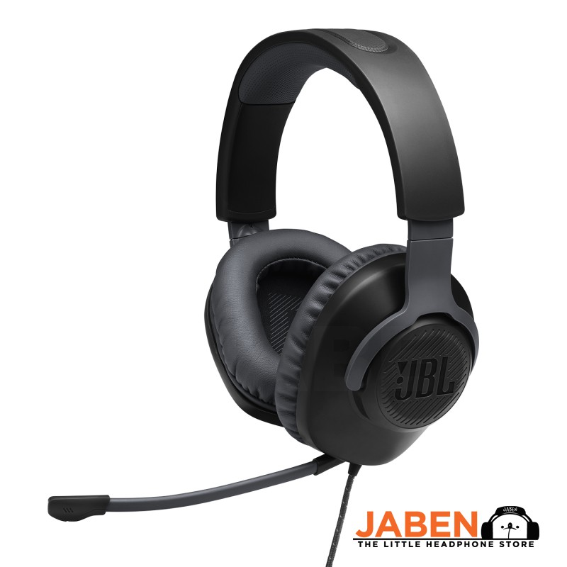 JBL Quantum 100 Wired Detachable Boom Mic Gaming Closed Back Over-Hear Heaphones [Jaben]
