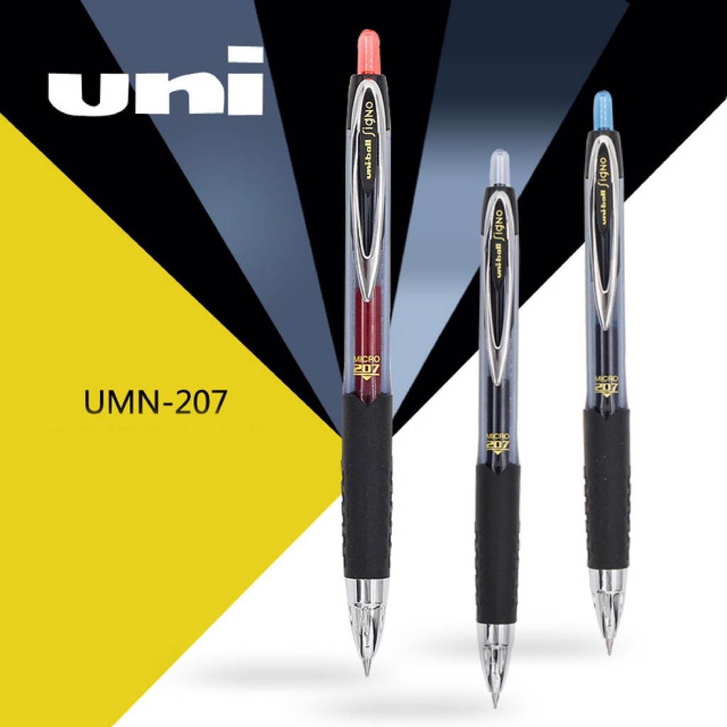 Uni-ball Signo UMN-207F 0.7mm retractable gel pen BLACK x 12 pcs Free Postage