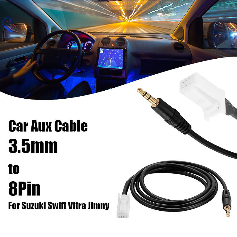 Car Audio 3.5mm AUX Jack 8Pin Interface Adapter Cable for Suzuki Swift AC1277
