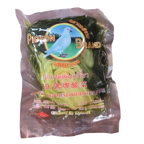 PIGEON BRAND Sour Pickled Mustard Green in Brine 350g/800g/1.6kg 辣華南菜 (Chinese Salted Vegetable) by 365mart 365 Mart