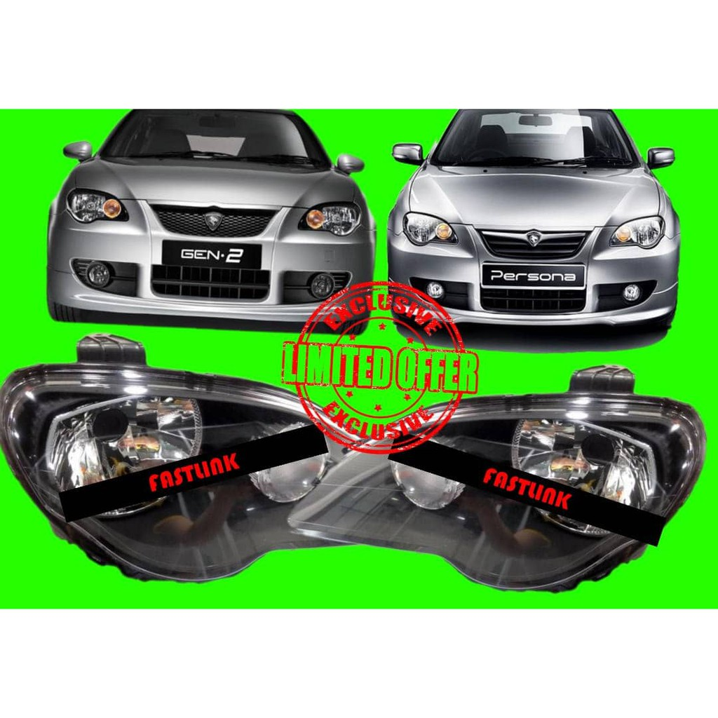 PROTON PERSONA GEN2 HEAD LAMP LAMPU DEPAN SET SMOKE
