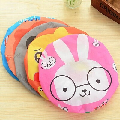 HAIRperone Cute Cartoon Animal Waterproof Shower Cap Resuable Lace Elastic Band Bath Hair Caps Hat