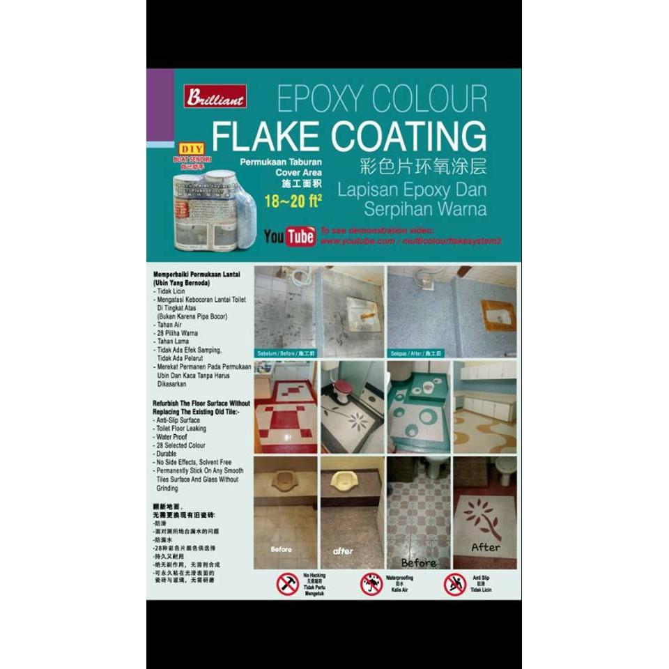 Epoxy Colour Flake Coating Floor Slab Leaking Penetrate