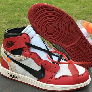 OFF-WHITE x Air Jordan 1 Retro High OG 10X White/Black-Varsity Red