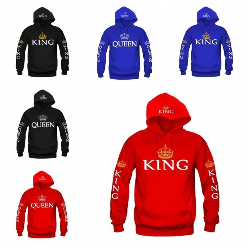 Printed Long-Sleeved T-Shirt,Digital Print Couple Comfort Sweatshirts Exercise Fitness and Tights Sports King and Queen
