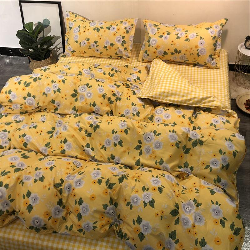 Queen 4in1 Printed Quilt Cover Set /  Set Cadar Sarung Comforter Bercorak Saiz Queen