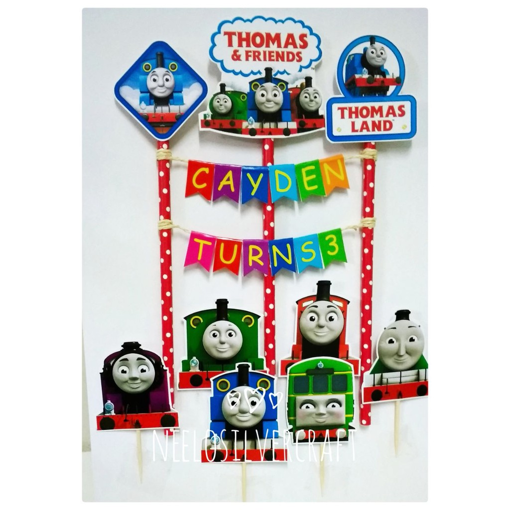 Incredible Thomas Friends Cake Topper For Birthday Cake Shopee Malaysia Funny Birthday Cards Online Overcheapnameinfo