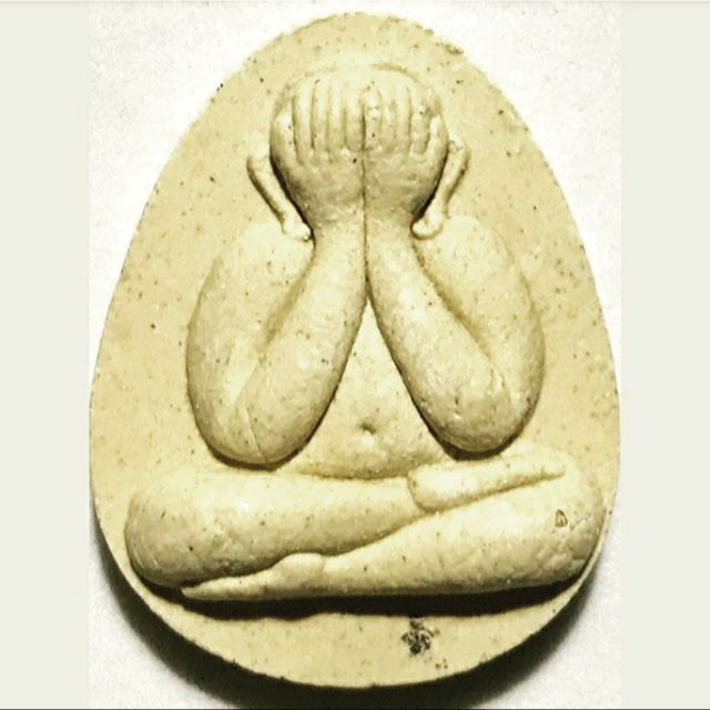 PHRA PIDTA LP RARE OLD THAI BUDDHA AMULET PENDANT MAGIC ANCIENT IDOL#312