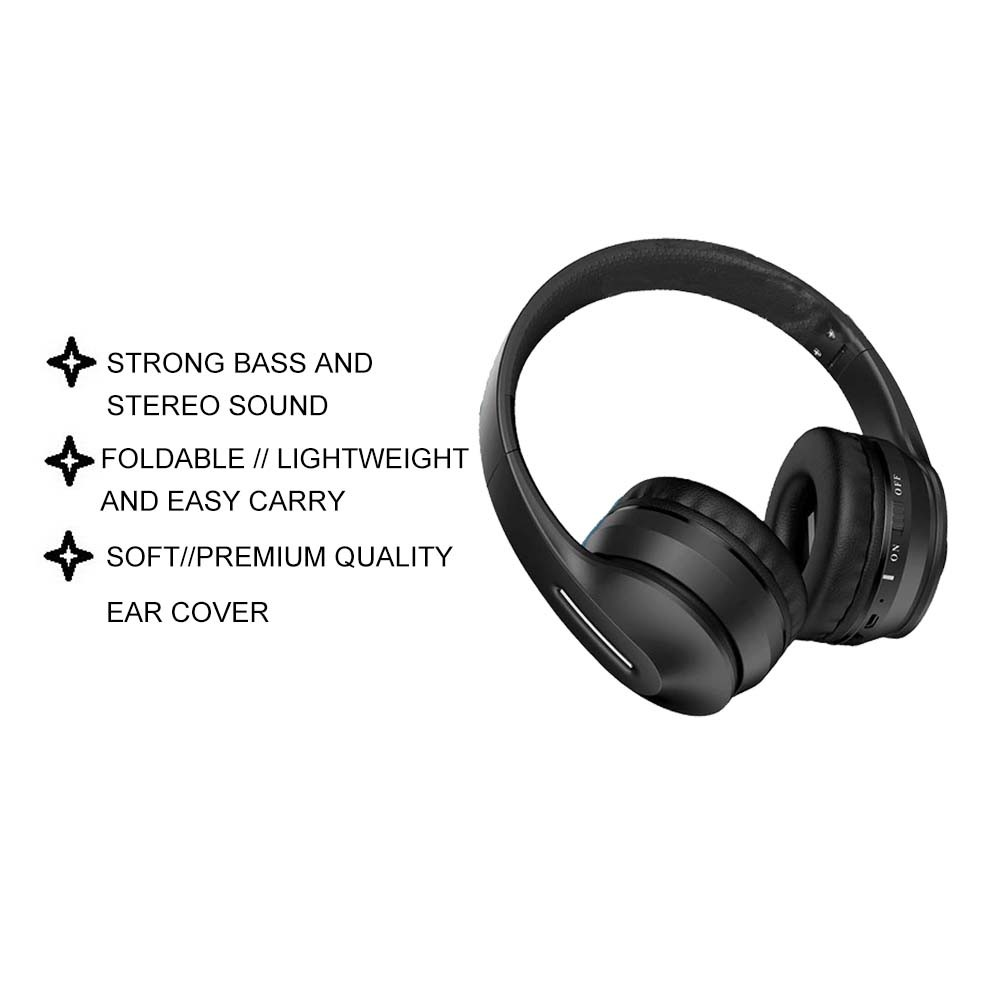 IKAKU KAKU Dianming Wireless Bluetooth V5.0 Headphone Strong Bass Hi Fi Stereo Surround Sound Smartphone Tablet Laptop
