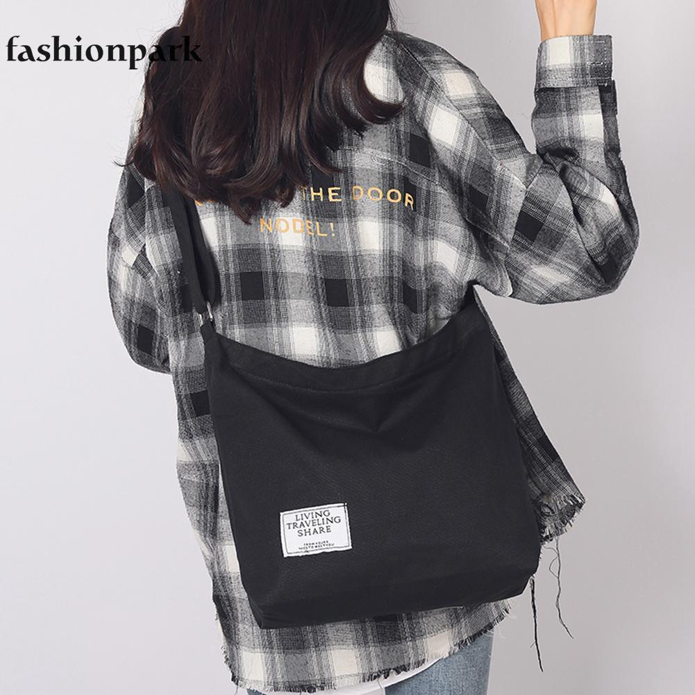 24b8fbfd5 Canvas Crossbody Shoulder Bags Women Girls Totes Casual Messenger ...