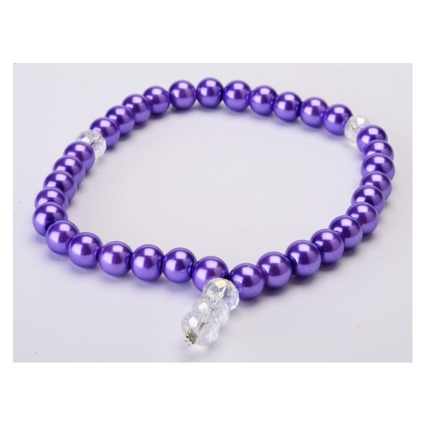 Tasbih Buatan Mutiara ( purple)