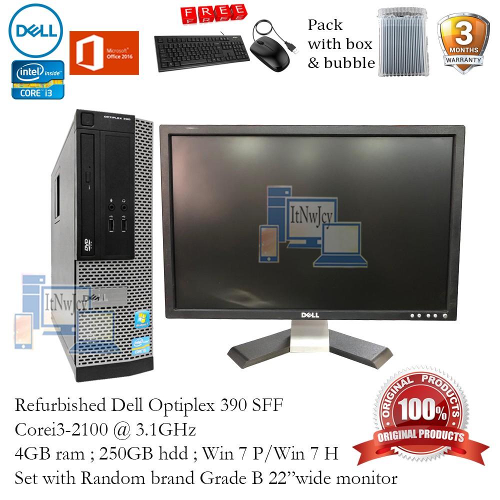 Refurbished Dell Optiplex 390 SFF Core i5-2400 or i3-2100