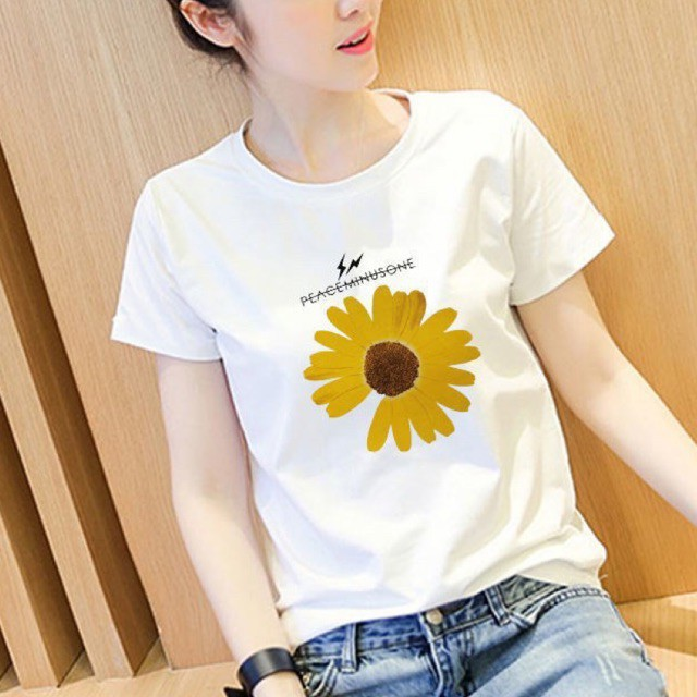 T Shirt Women Ladies Korea Daisy Ladies T-shirt 韩版少女小雏菊 T0001