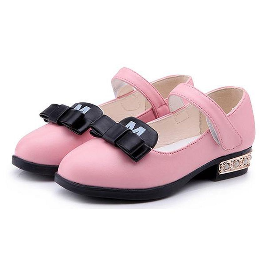Girl Dress Shoes - Bowie Pink Mary Jane