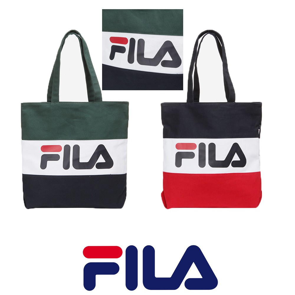 a860bdd4024 FILA women Canvas bag shoulder tote bag   Shopee Malaysia
