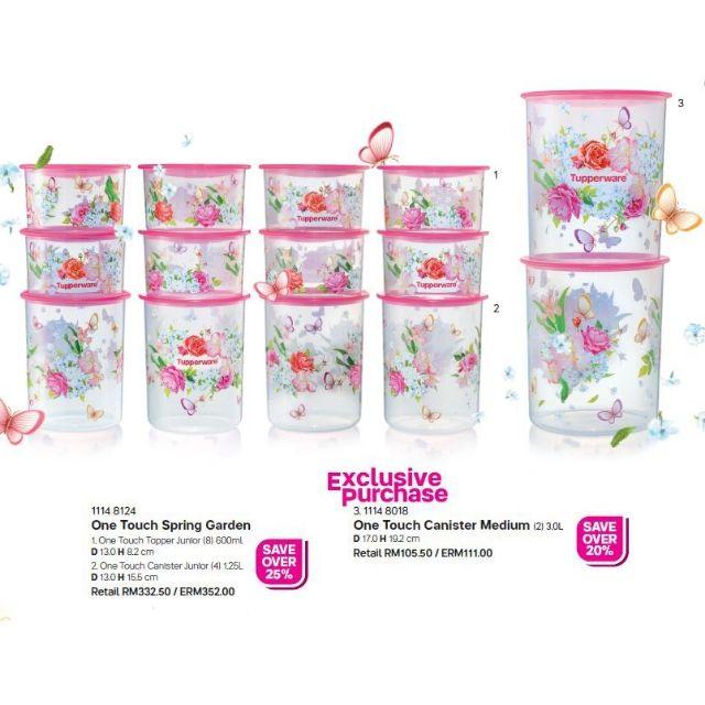 Tupperware Flora Raya One Touch Set of 3 & pwp / Bekas Kuih Raya