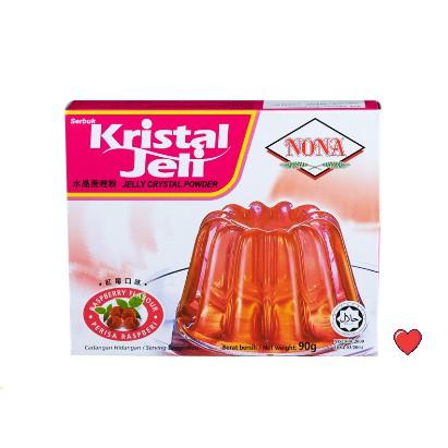 NONA Kristal Jeli / Jelly Crystal Powder ~ Raspberry Flavour @ 90g ( Free Fragile + Bubblewrap Packing )