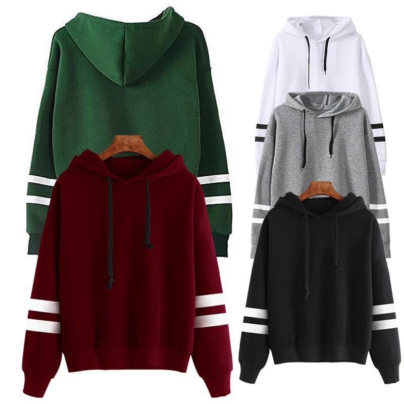 Women Winter Warm Long Sleeve Hoodie Rope Hooded Sweater Hoodies