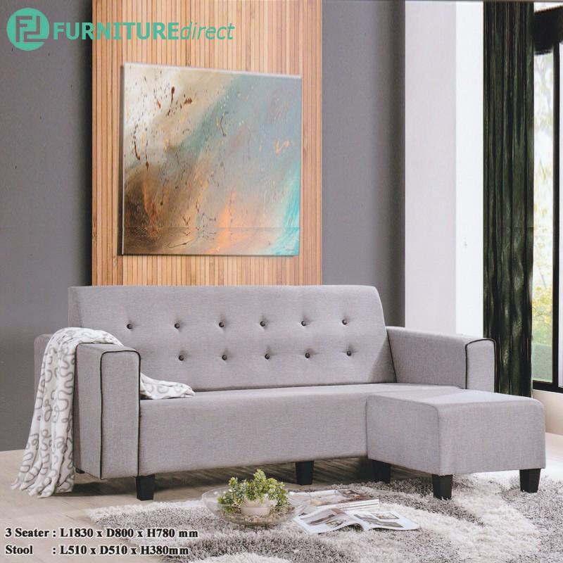 Furniture Direct ALICE 3 seater sofa l shape sofa/ sofa murah/ sofa kayu