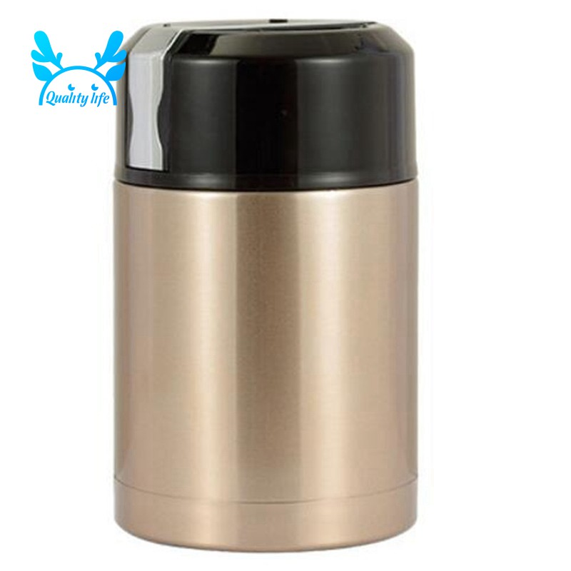 Stainless Steel Insulation Lunch Box for Hot Food with 1000Ml Gold