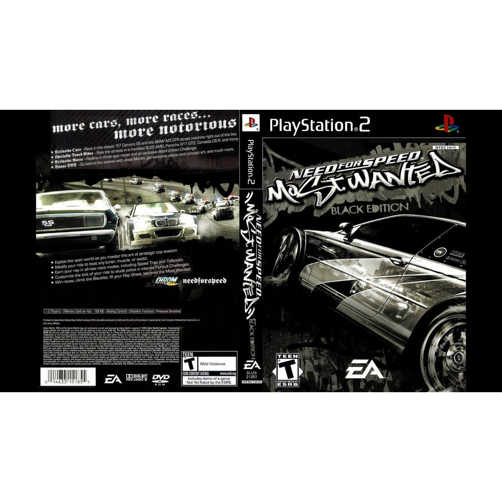 PS2 Need For Speed Most Wanted Black Edition