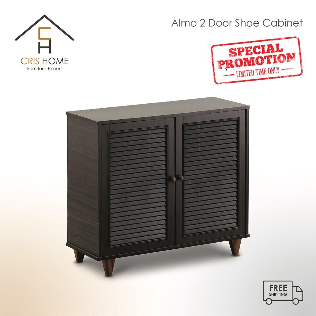 CrisHome - Almo 2 door Shoe Cabinet / Almari Kasut (Crazy Deal / Best Buy Item)