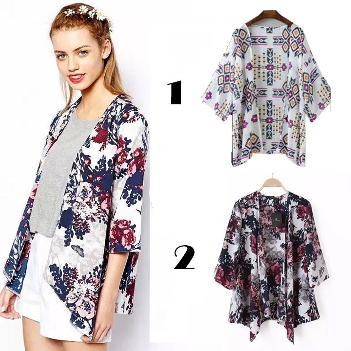 ef1b23f0e ProductImage. ProductImage. Fashion Retro Boho Floral Hippie Summer  Cardigan Kimono Flowered Comeandbuy